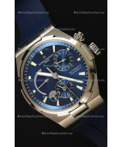 Vacheron Constantin Overseas Dual Time Blue Dial Swiss Replica Watch