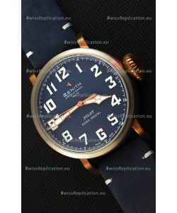 Zenith Pilot Type 20 Extra Special Vintage Style Blue Dial Swiss 1:1 Mirror Replica watch