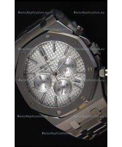 Audemars Piguet Royal Oak Chronograph Silver Toned Dial Swiss Quartz Replica Watch - 41MM
