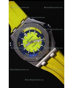 Audemars Piguet Royal Oak Offshore Diver Japanese Automatic Replica Watch in Yellow