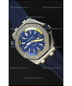 Audemars Piguet Royal Oak Offshore Diver Japanese Automatic Replica Watch in Dark Blue
