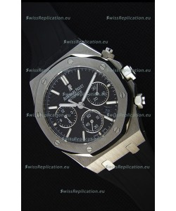 Audemars Piguet Royal Oak Chronograph Black Dial - 1:1 Mirror Replica Watch