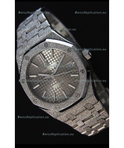Audemars Piguet Royal Oak Frosted Self-Winding White Gold Grey Dial 1:1 Mirror Replica Watch