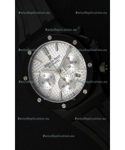 Audemars Piguet Royal Oak Chronograph Silver Toned Dial White Subdials Swiss Replica Watch