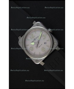 Bell & Ross BR03-92 Horolum Grey Dial Rubber Strap Swiss Replica Watch 1:1 Mirror Replica