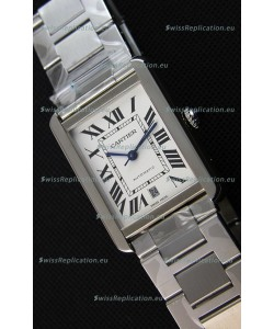 Cartier Tank Solo Swiss Automatic Watch in Leather Strap 31MM Wide