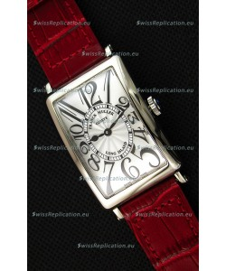 Franck Muller Long Island Ladies Replica Watch in Swiss Quartz Movement Red Strap