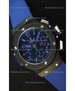 Hublot Big Bang All Black PVD Blue Swiss Replica Watch 1:1 Mirror Replica