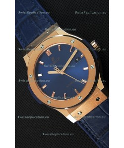 Hublot Classic Fusion Blue King Gold Swiss Replica Watch - 1:1 Mirror Replica