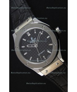 Hublot Classic Fusion Titanium Carbon Dial Swiss Replica Watch - 1:1 Mirror Replica