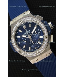 Hublot Big Bang Blue Steel Blue Dial Swiss Replica Watch 1:1 Mirror Replica