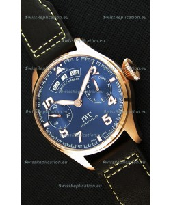 IWC Big Pilot Annual Calender Steel Blue Dial 1:1 Mirror Replica