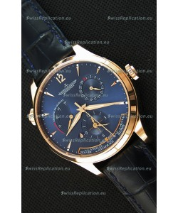 Jaeger LeCoultre Master Geographic Power Reserve Pink Gold Swiss Replica Watch