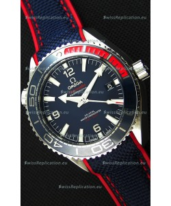 Omega Seamaster Planet Ocean Pyeong Chang 2018 Swiss Replica 1:1 Mirror Edition