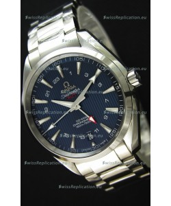 Omega Seamaster Aqua Terra GMT 150M 43MM 1:1 Mirror Replica Watch Blue Dial