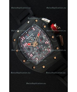 Richard Mille RM011 Romain Grosjean Lotus F1 Edition Forged Carbon Case Swiss Watch