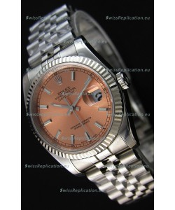 Rolex Datejust 36MM Cal.3135 Movement Swiss Replica Champange Dial Jubilee Strap - Ultimate 904L Steel Watch