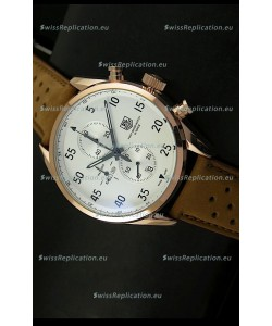 Tag Heuer Carrera 1887 SpaceEX Edition Japanese Quartz Watch in Pink Gold