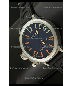 U Boat U-1001 Edition Japanese Drive Automatic Steel Watch in Orange Markers