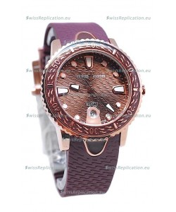 Ulysse Nardin Lady Diver Replica Watch in Gold Casing
