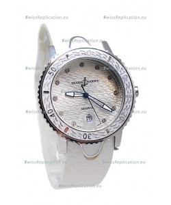 Ulysse Nardin Lady Diver Starry Night Replica Silver Watch