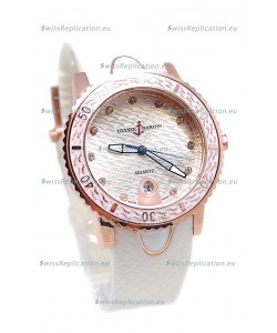 Ulysse Nardin Lady Diver Replica Watch in Pink Gold Casing