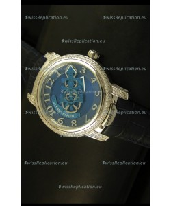 Ulysse Nardin Dual Escapement Japanese Watch in Blue & Black Dial