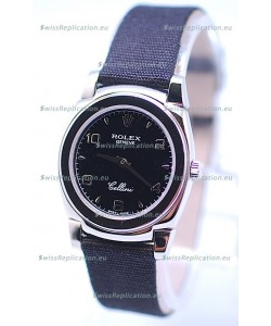 Rolex Cellini Cestello Ladies Swiss Black Watch