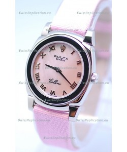 Rolex Cellini Cestello Ladies Swiss Pink Watch in Roman Markers